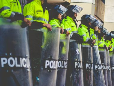 Police, during #21N social protests in Colombia